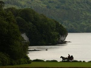 Ireland, Killarney, Horse and Cart by Lake by Keith Levit