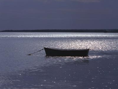 Moored Boat in the Moonlight, Nova Scotia by Keith Levit