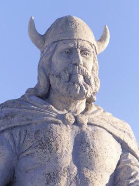 Statue of Viking, Gimli Manitoba by Keith Levit