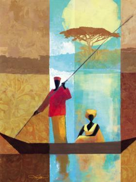 On the River I by Keith Mallett