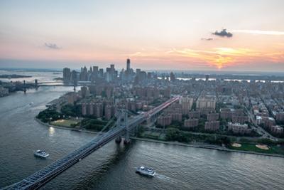 Lower East Side Williamsburg Bridge Aerial by Keith Sherwood