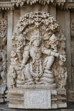 An Elaborate Carving of the Hindu God Vishnu by Kelley Miller