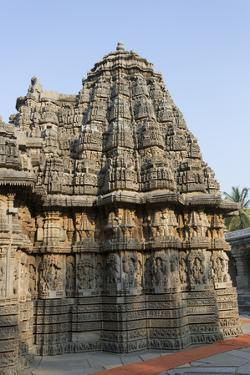 An Intricately Carved Pinnacle of the Keshava Temple by Kelley Miller