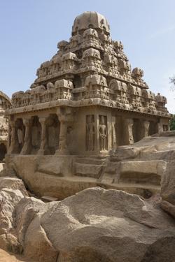 Dharmaraja Ratha in Mamallapuram by Kelley Miller