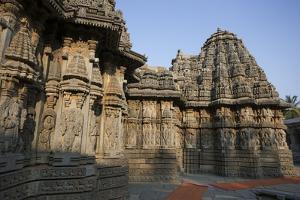 Shadows on the Elaborately Carved Walls of the Keshava Temple by Kelley Miller