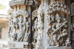 The Keshava Temple's Exterior Displays Many Carvings of Hindu Gods Such as Saraswati by Kelley Miller
