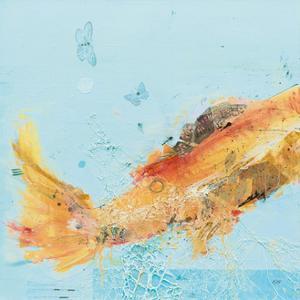 Fish in the Sea I Aqua by Kellie Day