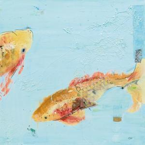 Fish in the Sea II Aqua by Kellie Day