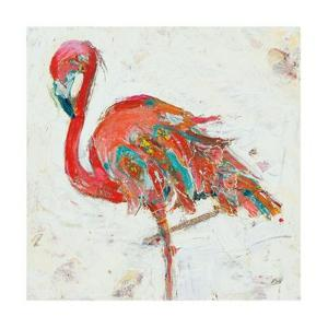 Flamingo on White by Kellie Day