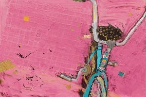 Perky Ts Pink Aqua Crop by Kellie Day