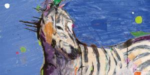 Zebra Blue by Kellie Day