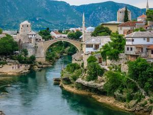 The Old Bridge of Mostar and Neretva River by Kelly Cheng Travel Photography