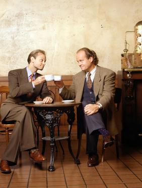 """KELSEY GRAMMER; DAVID HYDE PIERCE. """"FRASIER-TV"""" [1993]."""