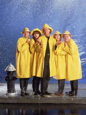 "KELSEY GRAMMER; JOHN MAHONEY; PERI GILPIN; JANE LEEVES; DAVID HYDE PIERCE. ""FRASIER-TV"" [1993]."