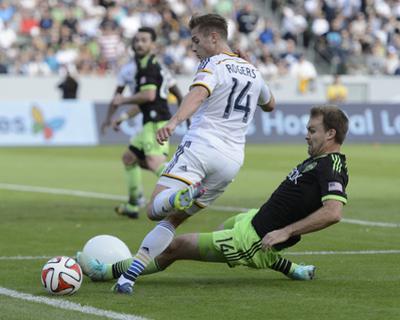 2014 MLS Western Conference Championship: Nov 23, Seattle Sounders vs LA Galaxy - Robbie Rogers by Kelvin Kuo