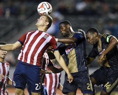 May 31, 2014 - MLS: Philadelphia Union vs Chivas USA - Maurice Edu, Eriq Zavaleta