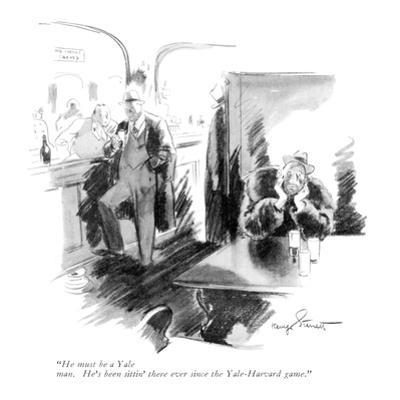 """""""He must be a Yale man. He's been sittin' there ever since the Yale-Harvar…"""" - New Yorker Cartoon"""