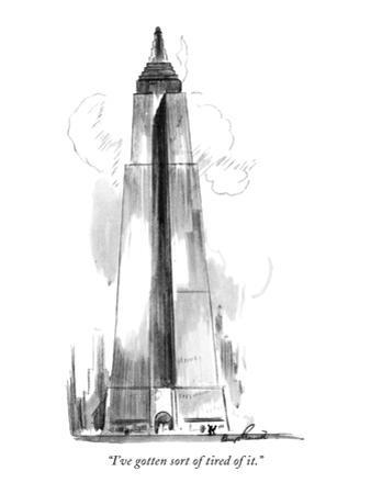 """I've gotten sort of tired of it."" - New Yorker Cartoon"