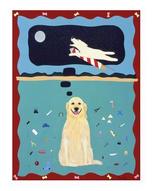A Golden Retriever's Fantasy by Ken Bailey