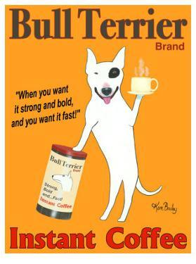 Bull Terrier Coffee by Ken Bailey
