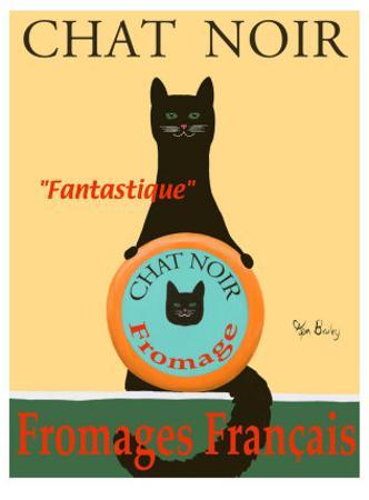 Chat Noir II - Black Cat by Ken Bailey