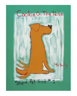 Cookie On The Nose -Stupid Pet Trick #1 - Golden Retriever by Ken Bailey