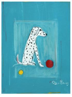 Dalmatian with Red and Yellow Ball by Ken Bailey