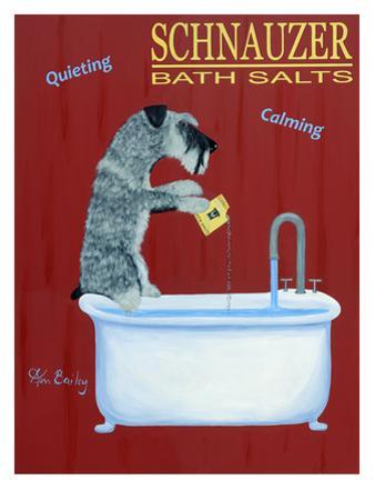 Schnauzer Bath Salts by Ken Bailey