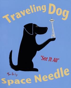 Traveling Dog Space Needle by Ken Bailey
