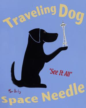 Traveling Dog, Space Needle by Ken Bailey