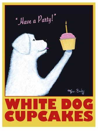 White Dog Cupcakes by Ken Bailey
