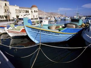 Boats at Pothia, Kalymnos, Dodecanese Islands, Greek Islands, Greece by Ken Gillham