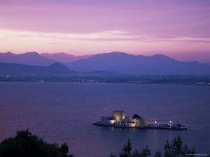 Bourzi, Castle Island, Gulf of Argolis, Nafplion, Greece by Ken Gillham