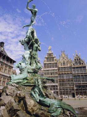 Brabo Statue, Antwerp, Belgium by Ken Gillham