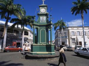 Clocktower at the Circus, Basseterre, St. Kitts, Leeward Islands by Ken Gillham