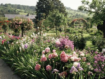 Garden, Monet's House, Giverny, Haute Normandie (Normandy), France
