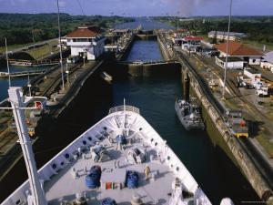 Gatun Lock, Panama Canal, Panama, Central America by Ken Gillham