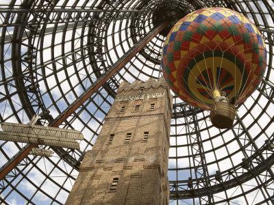 Melbourne Central Complex Incorporates Restored Shot Tower Beneath Glass Cone, Victoria, Australia