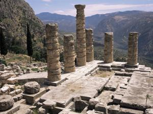 Temple of Apollo, Delphi, Unesco World Heritage Site, Greece by Ken Gillham