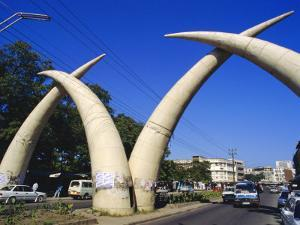 Tusk Arches, Mombasa, Kenya, Africa by Ken Gillham