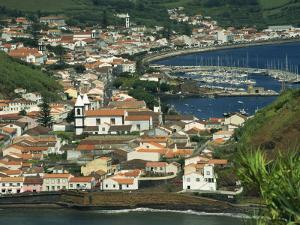 View from Monte De Guia of Horta, Faial, Azores, Portugal, Atlantic, Europe by Ken Gillham