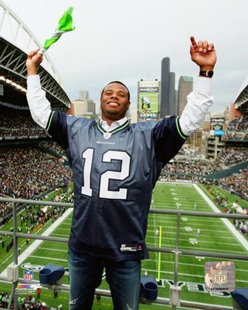 Ken Griffey Jr. after raising the 12th man flag at Centurylink Field in Seattle