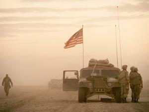 US Soldiers Scanning Desert Horizon in Desert Storm Gulf War by Ken Jarecke
