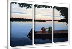 Tranquility, 3 Piece Gallery-Wrapped Canvas Set by Ken Kirsh