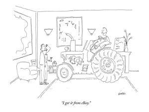"""""""I got it from eBay."""" - New Yorker Cartoon by Ken Krimstein"""