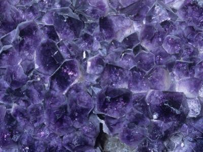 Amethyst Crystals, a Variety of Quartz, Brazil, South America by Ken Lucas
