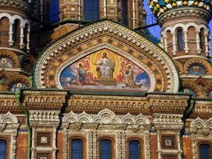 Russia, St; Petersburg; a Detail of the Restored Church of Christ the Saviour by Ken Sciclina