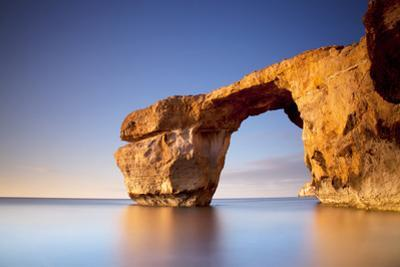 Europe, Maltese Islands, Gozo. the Famed Rock Formations of the Azure Window in Dwejra.