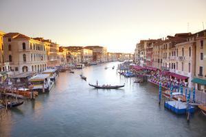 Italy, Veneto, Venice. View from the Ponte Di Rialto over the Grand Canal. Unesco. by Ken Scicluna