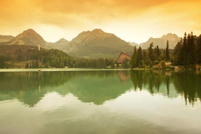 Slovakia, Carpathian Mountains, High Tatra. the Strbske Pleso Lake
